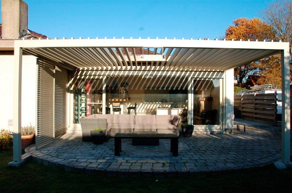an example of a pergola from Belgium