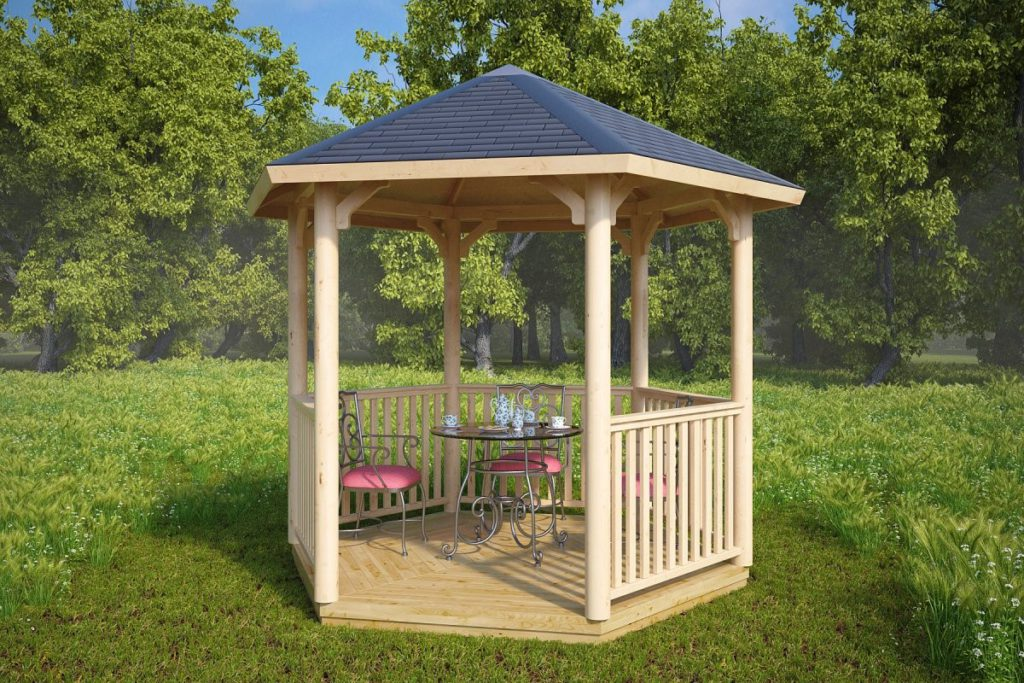 an example of a hexagonal gazebo (6 sides)
