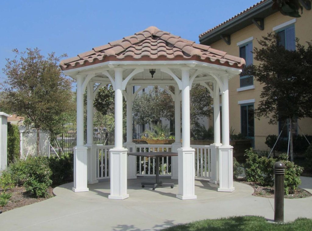 another example of a smaller octagonal gazebo in different style