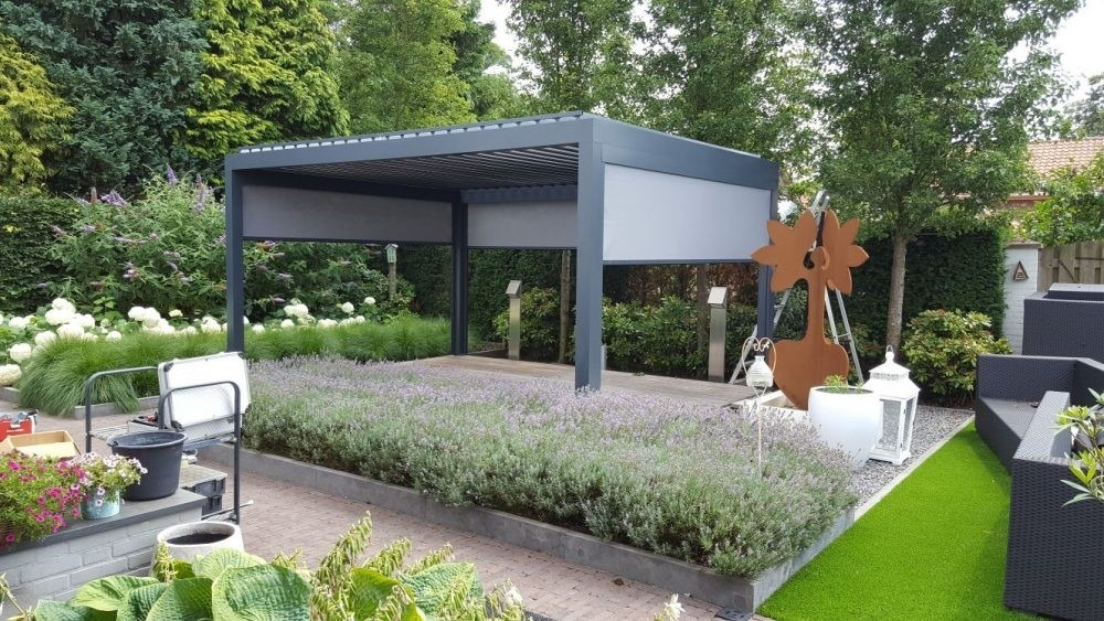 somewhat different free standing pergola from Netherlands